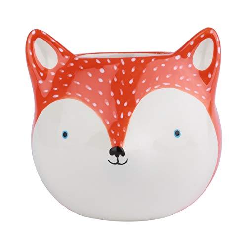 Cachepot de Cerâmica Fox Urban Laranja