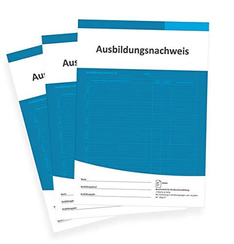 3er SET Berichtsheft Ausbildung/Ausbildungsnachweisheft täglich/wöchentlich - (DIN A4, 28 Seiten, 1 Woche je Seite)