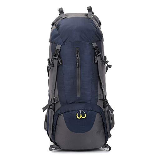 MYXMY Outdoor Bergsteigen Tasche Schulter Nylon 60L große Kapazität Camping Rucksack Licht Rucksack Reisetasche Tourismus wasserdicht Männer und Frauen Tasche (Color : F)