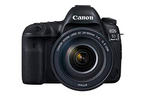 Canon EOS 5D Mark IV + EF 24-105mm f/4L IS II USM Juego de cámara SLR 30,4 MP CMOS 6720 x 4480 Pixeles Negro - Cámara Digital (30,4 MP, 6720 x 4480 Pixeles, CMOS, 4K Ultra HD, 800 g, Negro)