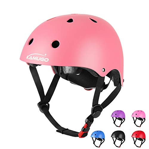 KAMUGO Kids Adjustable Bike Helmet, Suitable for Toddler Kids Age 2-14 Boys Girls, Multi-Sports Cycling Skating Scooter Helmet