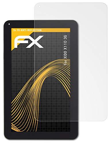 atFolix Panzerfolie kompatibel mit XIDO X110 3G Schutzfolie, entspiegelnde & stoßdämpfende FX Folie (3X)