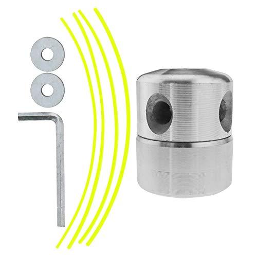 2 x cabezal desbrozadora de aluminio para césped, cortador de hierbas, accesorios latas, conjunto de jardín, gasolina desbrozadora, herramientas