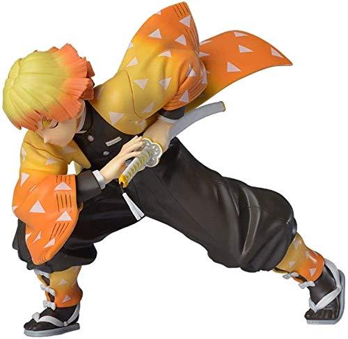 Lotote Anime-Modell Demon Slayer Figur, Agatsuma Zenitsu Figur, PVC Statue Actionfiguren,für Home Car Decoration Collection
