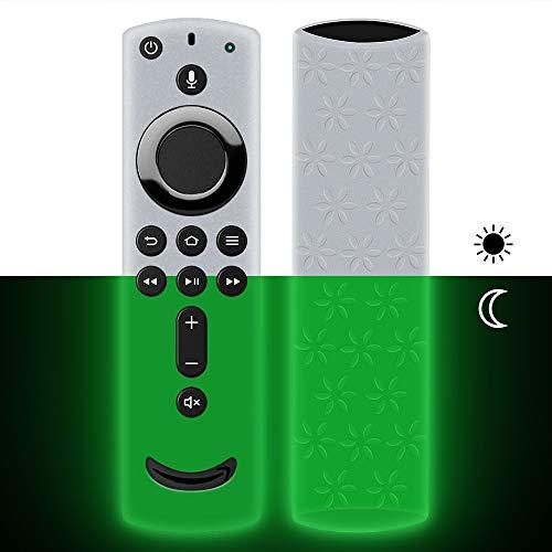Hydream Schutzhülle für Fire TV Stick 4K / 4K Ultra HD Kompatibel mit Neuen Alexa-Sprachfernbedienung(2.Gen), Leichte rutschfeste Stoßfeste Silikon Fernbedienung Silikonhülle Cover Hülle (Glow Green)