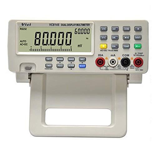 HONYGE Multímetro Digital LXGANG Interfaz RS232 VC8145 multímetro Digital de Alta precisión de Escritorio de múltiples Funciones del multímetro (Edición: Enchufe de Reino Unido)