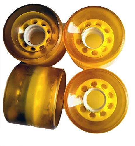 AxLorange.com Skateboard Rollen Set Yellow Longboard (1 Set = 4 Rollen) - Profi Wheels Set Wheels