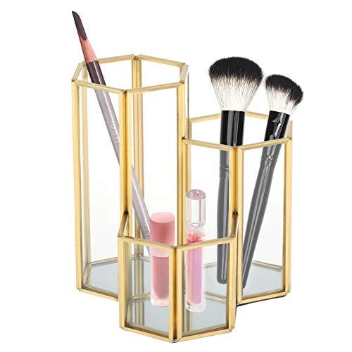 Fenteer Make up Organizer, Bleistifthalter Topf Kosmetik aufbewahrung Schmuck Pinselhalter Aufbewahrungskorb Schreibtisch Dekoration
