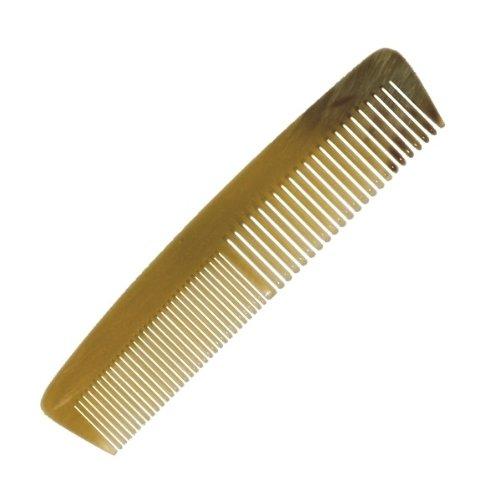 Peigne en corne proPassione droit fin et large lames handgesägt et poli à la main, 13 cm