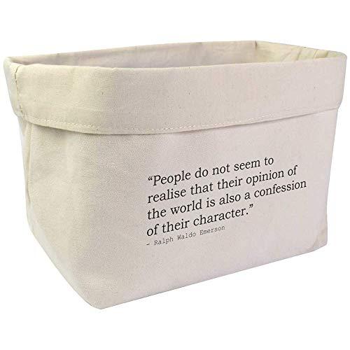Azeeda Large Quote By Ralph Waldo Emerson Canvas Organiser / Storage Bag (OR00004277)