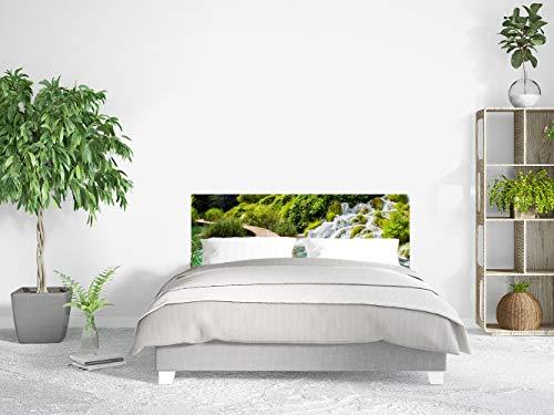 Cabecero Cama Cartón Ecológico Nido de Abeja Puente en el Río Impresión Digital 110x60 cm | Varias Medidas | Cabecero Ligero, Elegante, Resistente y Económico |