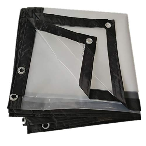 QIAOH Lonas Transparente De Múltiples Funciones 6x9m, Impermeable Lona Cubierta, Lona Invernadero Pesada Cubierta Transparente Tela Impermeable, Lona De PVC para Techo/Camping