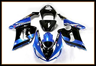 Sportfairings Injection In Stock New Plastic ABS Fairing Kits For ZX6R 2005 2006 05 06 Motorcycle Pearl Blue Black Elf Body Kits Hulls Covers