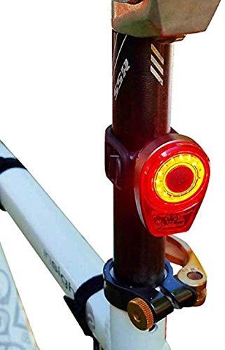 A-Generic Luces traseras de Bicicleta Luz Trasera de Bicicleta USB Recargable Luz de Bicicleta Impermeable para MTB Paquete de Casco Bolsa Luz Trasera 5 Modelos Luz Trasera de Ciclismo