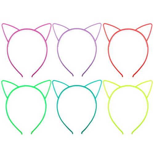 Candygirl Girl s Plastic Headbands Tiara Bunny Cat Bow Hairbands (GLOW IN DARK)