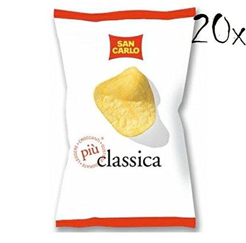 20x San Carlo Classica Chips Patatine Kartoffelchips gesalzen 50g Kartoffel chips