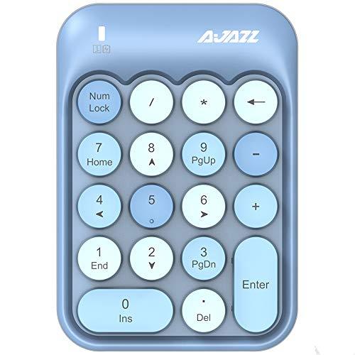 FELiCON - Teclado numérico Compacto portátil de 18 Teclas para Windows, iMac Mac, Ordenadores portátiles, Ordenadores portátiles, facturación de Datos (Azul)