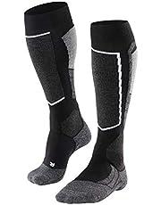 FALKE Damer skidstrumpor SK2 ull storlek 35–42 svart blå många andra färger tjocka förstärkta skidstrumpor utan mönster med medeltjock stoppning knähöga och varma för skidåkning 1 par