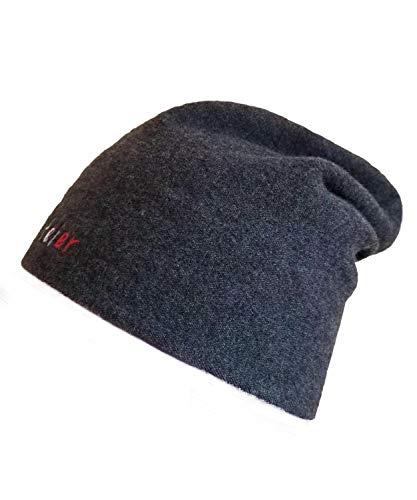 LVFEIER Hochelastische RF EMF – Wifi Abschirmung Wolle Verdickung Kappe für Gesundheit und Wärme im Winter - Grau - large