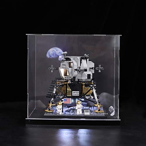 Fujinfeng Display Case Acryl Vitrine für Lego Apollo Saturn 11 Moonlight Cabin 10266 Transparenter Inkjet-Typ (Lego Modell Nicht Enthalten)