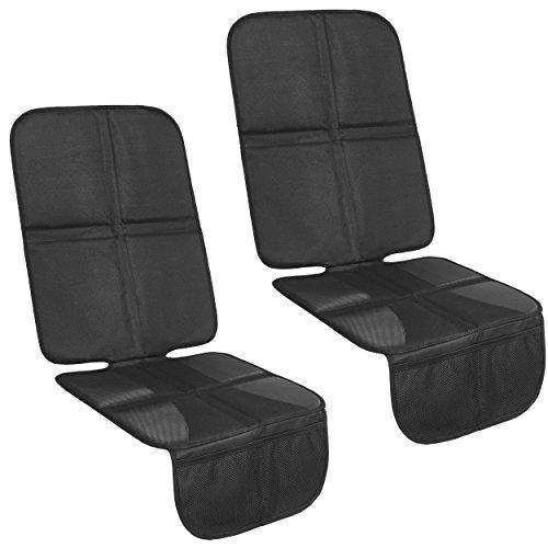2 x Kindersitzunterlage mit 10mm Polster - ISOFIX-geeignete Autositzauflage | Auto-Sitzschoner