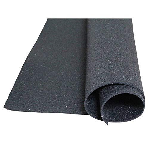 Bautenschutzmatte aus Gummigranulaten - 1,05m x 1,05m x 5mm ✓ Verrottungsfest ✓ Dauerbelastbar ✓ Elastische Antirutschmatte | Einsetzbar als Anti-Ermüdungsmatte, Bodenschutzmatte, Antivibrationsmatte