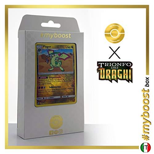 Flygon 39/70 Holo Reverse - #myboost X Sole E Luna 7.5 Trionfo dei Draghi - Box di 10 Carte Pokémon Italiane