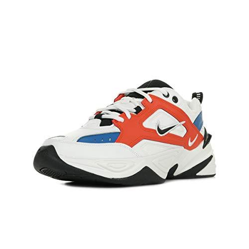 Nike M2K Tekno, Zapatillas de Running Hombre, Multicolor Summit White Black Team Orange 001, 46 EU