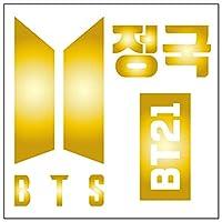 BTS ジョングク カッティングステッカーS 金