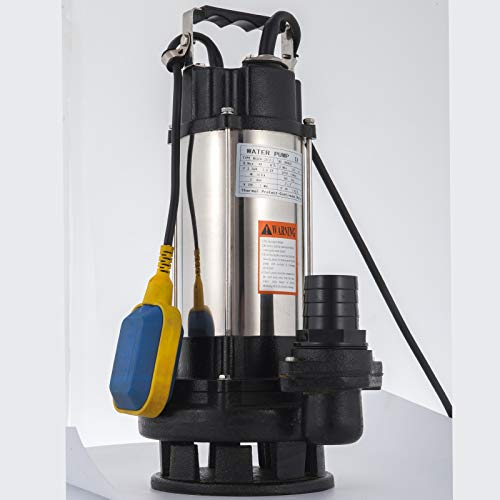 VEVOR Bomba de Inmersión para Aguas Sucias Bomba Sumergible de Aguas Residuales 2.2KW Bomba de Inmersión para Aguas Residuales Bomba de Agua Sucia