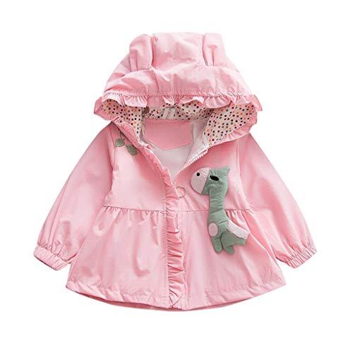 Baby Kids Girls Winter Adorable Bear Ear Solid Thin Hooded Purfle Zipper Jacket 1-4 Years