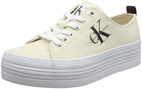Calvin Klein Jeans Damen ZOLAH Heavy Canvas Sneaker, Weiß (Ntw 000), 39 EU