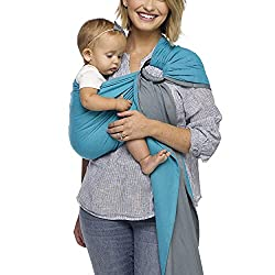 Moby ring sling for nursing while baby wearing