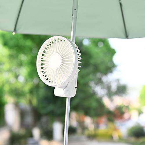ZZFF Mini Ventilador De Mano,Plegable USB Portátil Aficionados con Clip De Paraguas,Recargable De Pilas Tranquilo Ventiladores De Bolsillo para Girl Mujer Blanco 20x11x7cm(8x4x3inch)