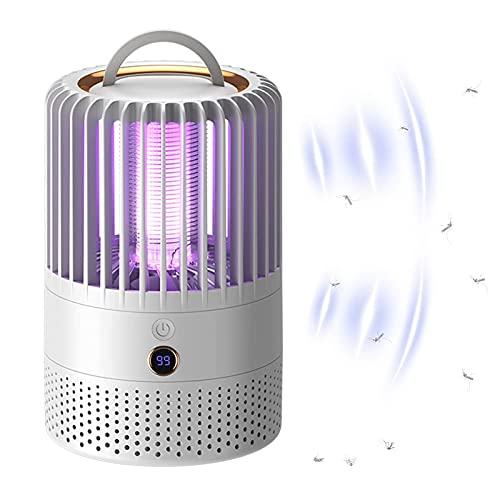 WOERD Lámpara Antimosquitos Electrico LED, UV Mosquito Lámpara Trampa, 800V USB Recargable Portátil Mosquito Lámpara para Moscas Polillas, Ideal para Cocina Dormitorio Jardín