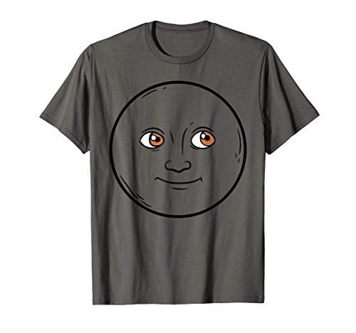 Creepy New Moon Halloween Emojis Costume Shirt Face Emoticon T-Shirt