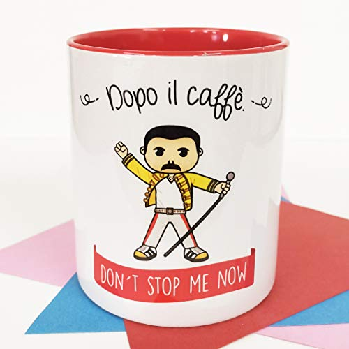 La Mente è Meravigliosa - Tazza con Frase e Disegno Divertente (Dopo Il caffè. Don't Stop Me Now) Tazza Freddie Mercury - Queen