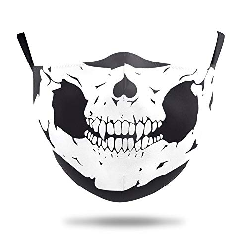 Skull Face Mask,Washable Cloth Face Masks,Adults Cloth Masks,Cotton Mask-1 PCS