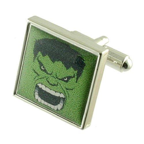 Grün Hulk Designer Schwere Gewicht Solide Sterling Silber 925Manschettenknöpfe + Personalisiertes Geschenk Nachricht Manschettenknöpfe Box