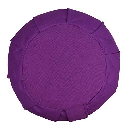 Myga Zafu Yoga Meditation Cushion with Washable Cover - Plum Floor Cushion Pillow with Natural Buckwheat Filling - Soft Round Cotton Design for Meditating or Pranayama Exercises