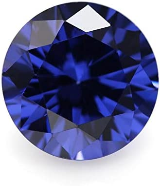 50PCS 7.5mm AAAAA Round Machine Cut In stock Loose Blue Ston New product! New type CZ Tanzanite
