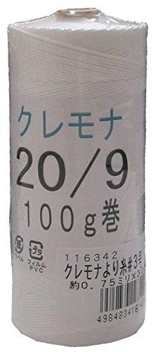 まつうら工業 クレモナ製 より糸 3号 太さ約0.75mm 長さ300m (#20X9本 100g巻)