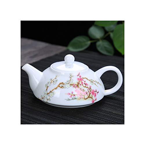 Patrón exquisita azul blanco porcelana pote del té chino del paisaje tradicional Tetera de cerámica té de flores Tetera Hervidor, 03