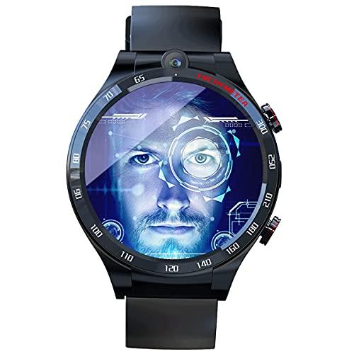 YJKJ Rastreador de Actividad física 4G de 1,6 Pulgadas, 4 + 128G, Reloj Inteligente 400 * 400 HD (900 mAh) para Hombres, Mujeres (Tarjeta enchufable) con Banco de energía