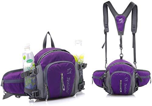 YJZQ Sacoche Alpinisme Porte Bidon Sac Banane Magique 3 à 1 Mini Sac à Dos Portable Sac à Bandoulière Poche pour Jambe avec Sangle Démontable