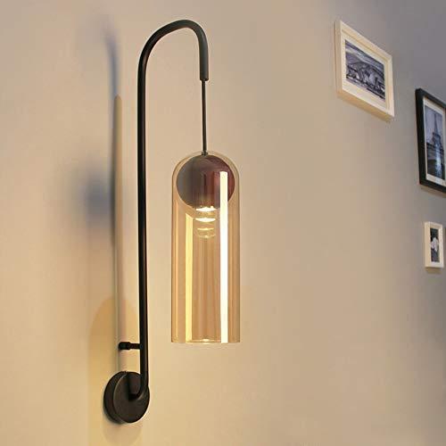 Quskto wandlamp, retro wandlamp wandlamp met snoer decoratieve wandlamp geschikt voor slaapkamer hal compact en praktisch