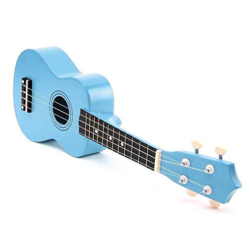JiaLG 21 Pulgadas Basswood Soprano Ukulele Guitarra Rosewood 4 Cuerdas Ukulele Guitar Uke Niños Regalo Instrumentos Musicales (Color : Blue, Size : 21 Inches)
