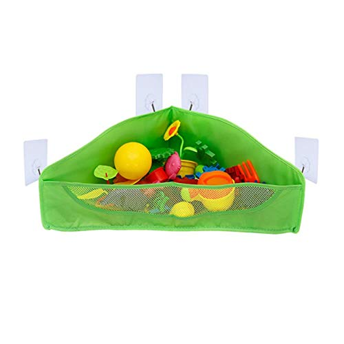 Multifunctional Kids Baby Toys Organizer Sundries Storage Bag Hanging Mesh Net Container Polyester Bag With Four Suction Cup