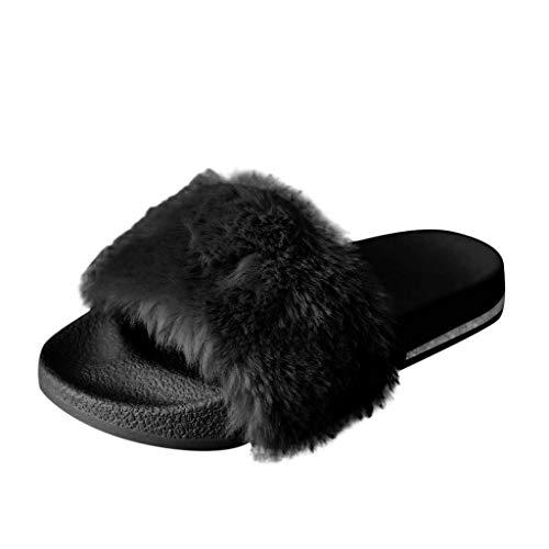 BIBOKAOKE, sandali da donna, estivi casual, con strass, con fiorellini, comodi e open toe, per attività all'aperto beige Nero  37