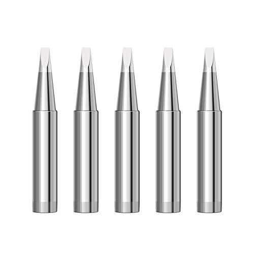 Kzerlly 5pcs/set 900M-T Soldering Iron Tips Soldering Bits (900M-T-2.4D)